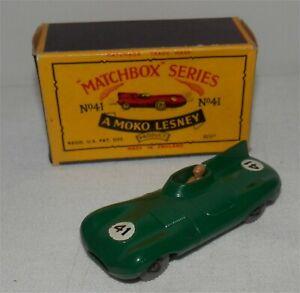 60s.matchbox LESNEY.JAGUAR D TYPE.Sports.Racing.F1.Indy.GPW.Mint in box.Original