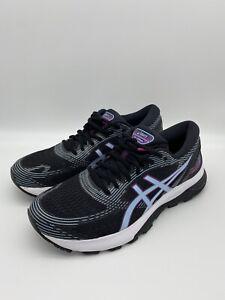 Asics Gel-Nimbus 21 1012A551 Women's Size 8.5 Black Purple Blue Running Shoes
