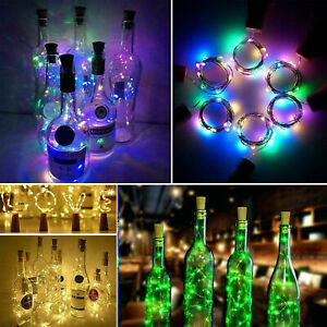LED Wine bottle Cork with 2M 20 Lights on a String Bottle Battery Operated AG13