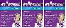 3X Vitabiotics Wellwoman Original varios suplementos vitamínicos 60 comprimidos