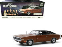 "1970 Dodge Charger R/T Dark Burnt Orange ""Graveyard Carz"" 1/18 Greenlight 19077"