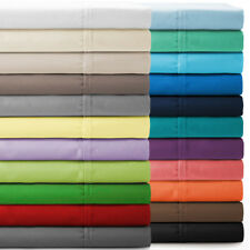 Attached Waterbed Sheet Set Solid All Color & Sizes 800 TC 100% Egyptian Cotton