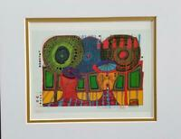 Friedensreich Hundertwasser A Rainy Day With Walter Kampmann Matted offset 1986