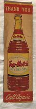 Rare Vintage Top Notch Beverages Soda Pop Sign Door Push Original Old