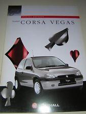 ORIGINAL VAUXHALL CORSA VEGAS SALES BROCHURE 1996