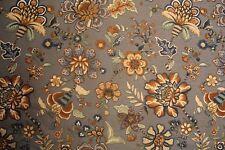 4 yards Kryan Vines by Robert Allen decorator fabric in blues and sepia tones