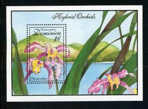 Dominica Scott #1675 MNH S/S Orchids Flowers FLORA CV$5+