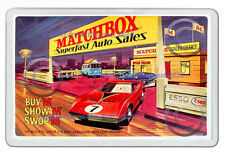 MATCHBOX SUPERFAST AUTO SALES ARTWORK NEW JUMBO FRIDGE LOCKER MAGNET