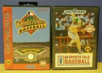 Sports Talk + World Series Baseball Sega Genesis Working + Tested - 2 Game Lot