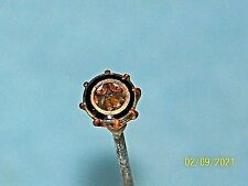 Antique Victorian Encaged Stone Hat Pin Stick pin