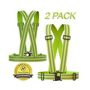 Apace Vision Reflective Vest (2 Pack)   Lightweight, Adjustable & Elastic   S...