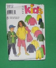 Style Kids Pattern 2812 UNCUT - Jacket, Top, Pants, Shorts, Sweats