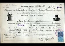 """PARIS (XV°) FABRICATION des COMPTEURS MATERIEL pour USINE à GAZ """"MICHEL"""" en 1923"""