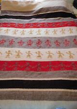 Vintage Berlou Moth Proofed Wool Blanket Southwestern Tribal People Holding Hand