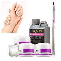 3 Colors Acrylic Powder Nail Art Kit Liquid Pen Glass Dappen Dish,Gift - US