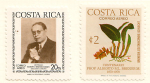 Costa Rica - 1974 Airmail - The 100th Anniversary of the Birth of Roberto Brenes