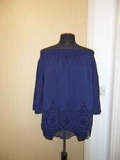 Ladies Blue Bardot Top - Size 12