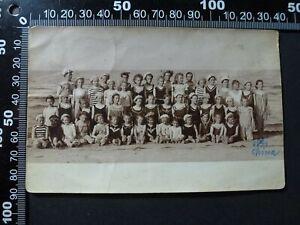 Foto AK , Carlshagen Karlshagen hübsche Mädchen Jungen Badespaß 1908 , 280921-4