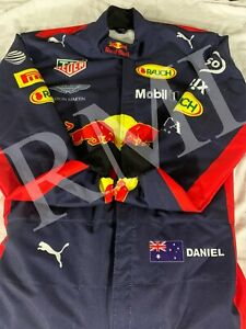 F1 Daniel Ricciardo Red Bull Printed Suit Go Kart/karting Race/Racing Suit