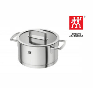 Zwilling J. A. Henckels Pro 20cm Stainless Steel Stew Pot With Glass Lid 3L
