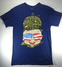 Looney Tunes Elmer Fudd Hunter American Flag Blue Shirt tshirt Men's Medium M