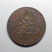 1794 Great Britain  - Middlesex Masonic Halfpenny Token, DH-369a.