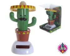 SOLAR POWERED FLIP FLAP DANCING MEXICAN BANDIT CACTUS TOY GREAT GIFT IDEA