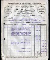 """FECAMP (76) CHAUDRONNERIE & MECANIQUE """"CAUCHOIS-PREDSEIL / P. MALANDAIN"""" en 1925"""