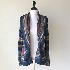 Rosie Neira Anthropologie Multi Colored Knitted Circle Cardigan Sweater Sz Small
