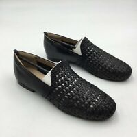 Soul Naturalizer Womens Alva Braided Loafer Shoes Black Leather Slip Ons 10M New