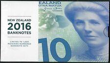 New Zealand 5 - 100 Dollars 2015(2016) UNC - Polymer (matching / identical #322)
