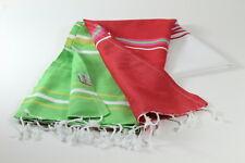 Red-Green Turkish Towel Peshtemal Sarong Bath SPA Beach Hammam Gym 100% cotton