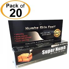 20 X 30g Super Numb skin numbing cream painless piercings waxing laser sex Dr