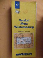 carte michelin 57 verdun metz wissembourg 1987