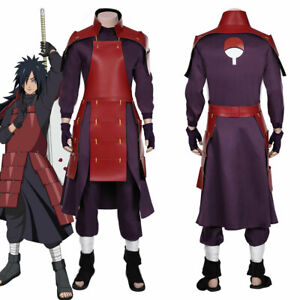 Uchiha Madara Cosplay Costume Top Pants Outfit Halloween Carnival Suit