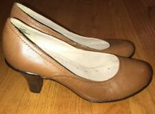 IPANEMA Blackberry Leather Camel Brown Pumps High Heels Womens Shoes Sz 6 #