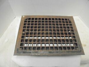 """metal furnace air grate fits 14"""" X 10"""" opening pressed steel with back fins"""