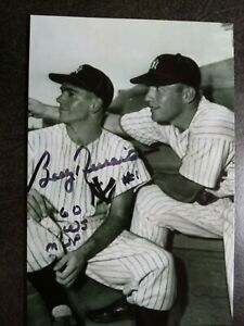 BOBBY RICHARDSON Authentic Hand Signed Autograph 4X6 Photo with MICKEY MANTLE