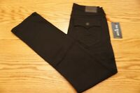 NWT MEN'S TRUE RELIGION JEANS Ricky Relaxed Straight w/ Flap Black Midnight $159