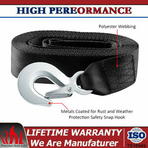 """USA DELUXE BOAT TRAILER REPLACEMENT WINCH STRAP 10000 IBS 2""""x20' SNAP HOOK QUICK"""