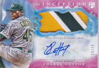 2017 Topps Inception Jharel Cotton /50 Auto Patch Rookie A's