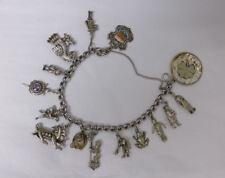 Vintage Sterling Silver Charm Bracelet  #3