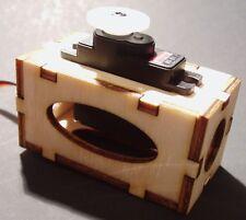 "Laser Cut 1/8"" Birch Plywood Micro Servo Box/Tray, U-Assemble"