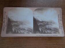 Antique Stereoscope Image The Jungfrau from Wengern Alp Switzerland c1900