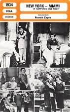 FICHE CINEMA : NEW YORK MIAMI - Gable,Colbert,Capra 1934 It Happened One Night