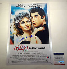JOHN TRAVOLTA SIGNED AUTOGRAPH GREASE MOVIE POSTER PSA/DNA COA #V27213