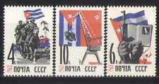 Russia 1963 HORSES/Book/Crane/Tractor/Gun 3v set n17766