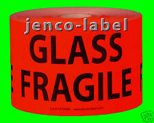HF3504R, 500 3x5 Glass Fragile label/Sticker