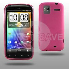 New Pink Gel Hydro Skin Cover Case for HTC SENSATION Phone - In Stock - UK