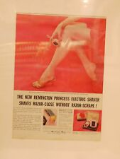 Original 1957 Vintage Canadian Advert mounted  Remington Princess Ladies Shaver